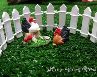 5 Mini  Roosters Miniature Dollhouse Fairy Garden  (Random Color) /Set