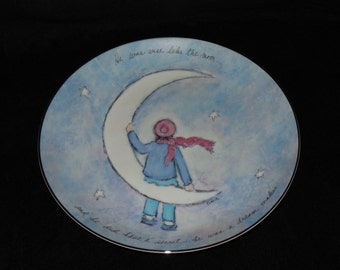 "1988 Willitts Galleries The Dream Maker ""Flavia"" Collector Plate by Flavia Weedn"