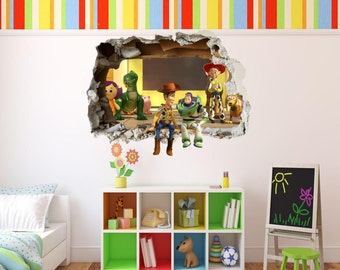Toy Story 3D Effect Graphic Wall Vinyl Sticker Decal