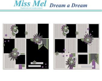 Digital scrapbook template : Dream a Dream