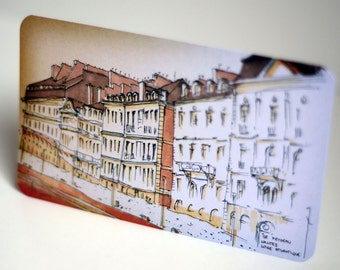 Pack of 4 postcards of Nantes City, France