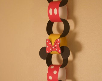 Mickey and Minnie Countdown Chain - Classic