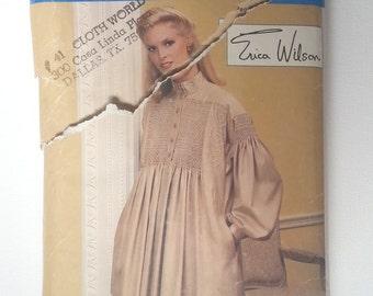 Vogue 8826 Vintage 1980's Dress & Top Erica Wilson Sewing Pattern Uncut FF