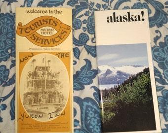 Vintage Alaska Brochures Tourist Services Motor Hotel & Alaska!
