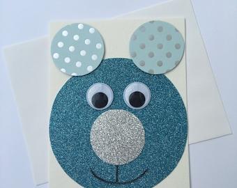 Blue bear blank card