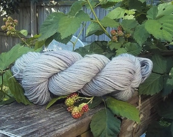 "Naturally Dyed, Worsted Weight, ""Steel Drum"""