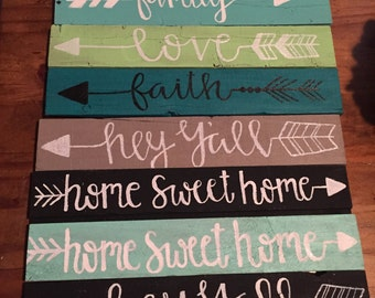 Painted wooden plaques