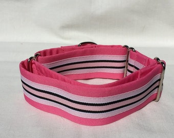 Preppy Pink Martingale Dog Collar