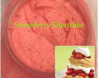 8 oz. Strawberry Shortcake Whipped Sugar Scrub (Vegan Exfoliate Body Scrub)