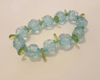 Rose and Leaf bracelet
