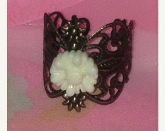 On Sale Filigree Flower Ring