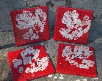 Red Leaf Coasters