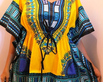 Traditional Dashiki Top with Draw String