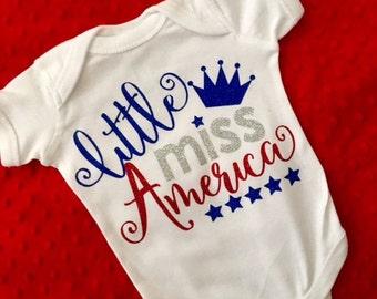 Little Miss America Shirt/Onesie