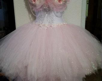 Pink glitter hi-low, PLUS, tutu skirt, fairy, halloween