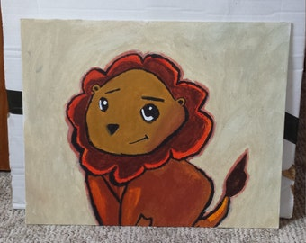 Cute Baby Lion Painting