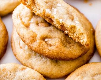 Salted Toffee vanilla cookies