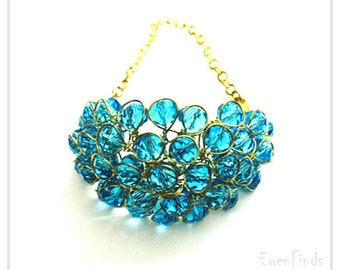 Crystal Bracelet, Chain Bracelet, Fashion Bracelet, Free Shipping for Additional Items