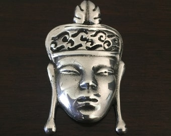 Sterling Silver Face Brooch (Chinese)