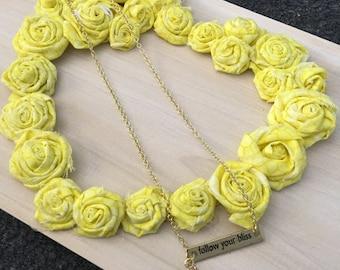 Follow Your Bliss quartz necklace