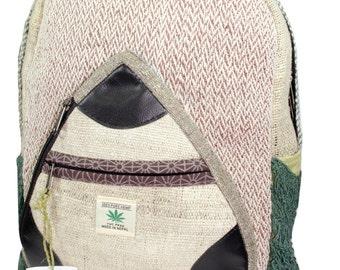 Handmade Nepal Hemp and Cotton Backpack Type 5