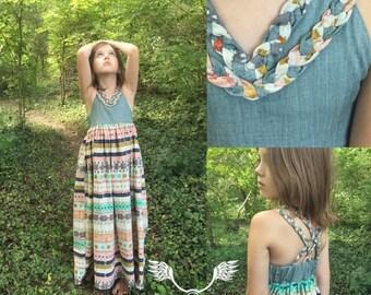 Girl's Maxi Sundress • Bandana