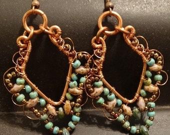 Copper Lacy Earrings