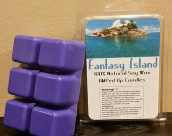 Fantasy Island Wax Melts, Tarts, 6 cubes