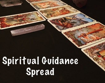TAROT CARD READING. Spiritual Guidance Spread Tarot deck. Message from the Universe. 8 Card Spread. Divination. Psychic Intuitive Message