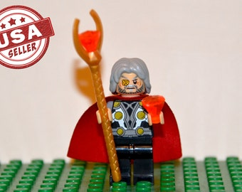 Odin Borson Custom minifigure (Lego Compatible) Marvel Comics God of Asgard Superhero Avengers Thor: Dark World Loki Villain Christmas Gift