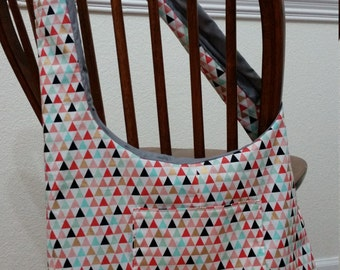 Reversible Sling Bag Triangle/Grey