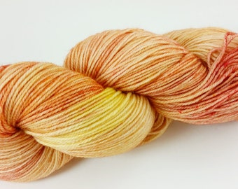 Flash in the Pan, hand dyed merino/nylon sock yarn