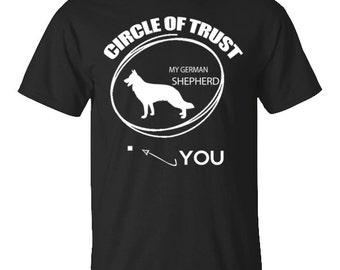 German Shepherd Circle Of Trust T-shirt German Shepherd tshirt. German Shepherd tee shirt for him or her.