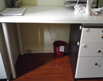 Custom White Desk