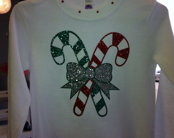 Candy Cane Holiday Tee