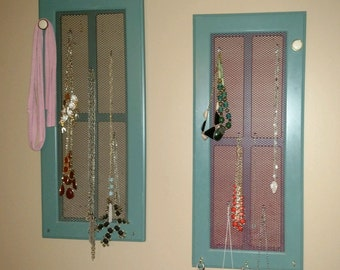 Reclaimed Cabinet Door Jewelry Tree