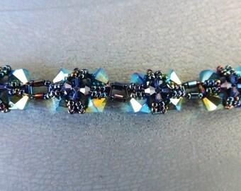 "Swarovski Crystal bracelet ""jet ab"""