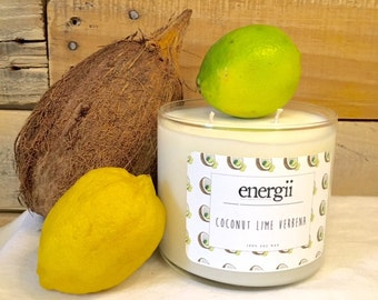 Coconut Lime Verbena Soy Wax Candle