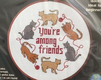 Cross Stitch Kit Dimensions Cats Among Friends 2000