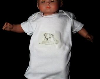 Cotton Original Artwork Baby Onesie