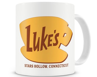 Luke's Diner Mug Inspired by Gilmore Girls Stars Hollow Connecticut Gilmore Girls Mug Lukes Diner Coffee Lorelai to my Rory Dragonfly Inn