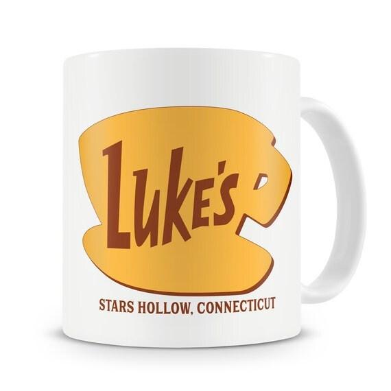 Luke's Diner Mug Inspired by Gilmore Girls Stars Hollow Connecticut Gilmore Girls Mug Lukes Diner Coffee Lorelai to my Rory Dragonfly Inn