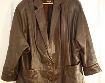 80s 90s leather jacket Blazer creation Christian junior