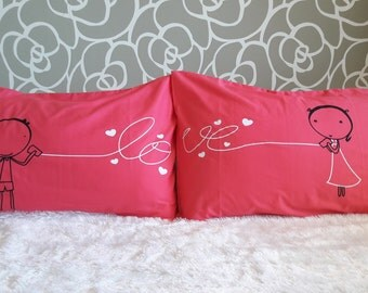 8R- Love . Bed Pillow Cases / Covers