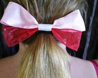 Pink Polka Dots and Sparkly Red Bows