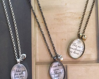 Shamy Quote Necklace (choose your quote)