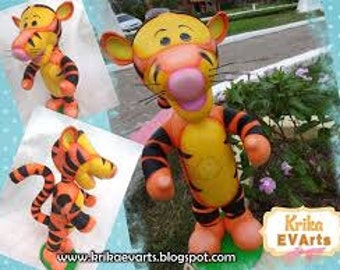 Step by step Tigger Winnie the Pooh 4 d