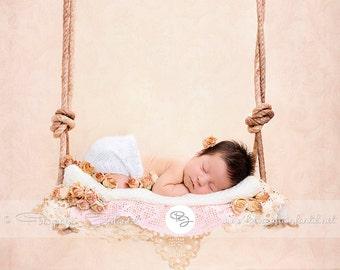 Newborn Digital Backdrop (swing/pink)