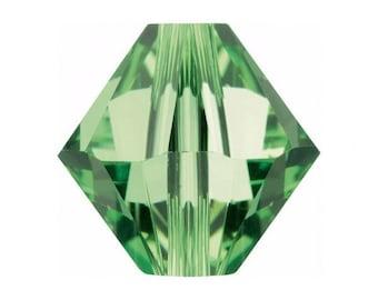 16 x 8mm Peridot Swarovski Crystals