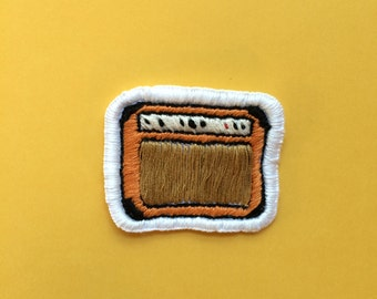 Orange Amp hand embroidered patch
